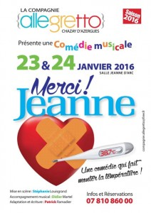 Affiche spectacle Merci Jeanne